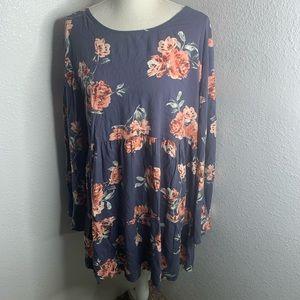 Arizona Grey Floral Dress